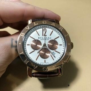 ブルガリ(BVLGARI)のブルガリ 時計 ゴールド クロノグラフ(腕時計)