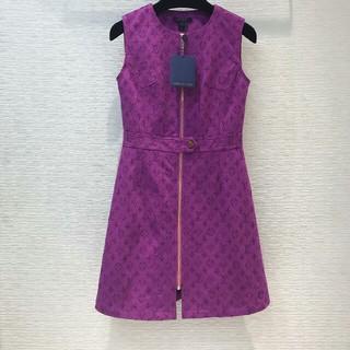 ルイヴィトン(LOUIS VUITTON)のLouis Vuittonルイ・ヴィトンワンピース ドレス M(ひざ丈ワンピース)