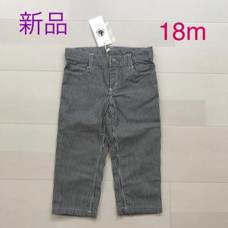 プチバトー(PETIT BATEAU)のSALE〜1/26★プチバトー ヒッコリーパンツ 18m (パンツ)