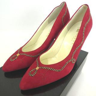 ランバン(LANVIN)のLANVIN ランバン ヒール 靴 スエード/レザー 20-6284(ハイヒール/パンプス)
