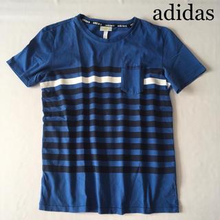 アディダス(adidas)のadidas アディダス ボーダー 半袖 Tシャツ(Tシャツ/カットソー(半袖/袖なし))