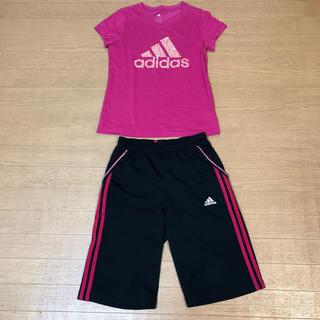 adidas - アディダス Tシャツ ハーフパンツ セット 160サイズ adidas