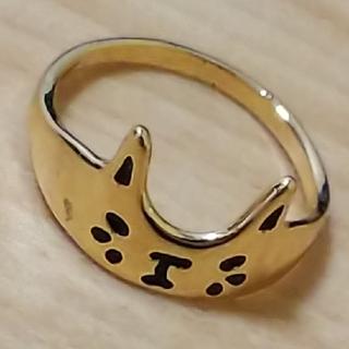 猫ちゃん指輪!ゴールド!ピーくん様専用!!(リング(指輪))