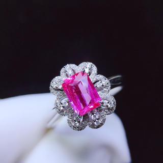 本物保証 リング k18 ピンクサファイア宝石 ダイヤモンド(リング(指輪))