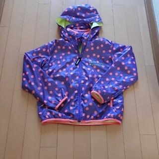 ジェニィ(JENNI)のジェニィJenni紫×ピンク水玉ドット柄パーカーウインドブレーカー140サイズ(ジャケット/上着)