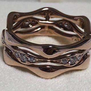 タサキ(TASAKI)のタサキ  アルーアラベッロ  ダイヤ0.35ct  K18 14号  美品(リング(指輪))