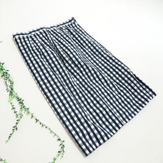 デミルクスビームス(Demi-Luxe BEAMS)のDemi-Luxe beams *ギンガムチェックタイトスカート*(ひざ丈スカート)