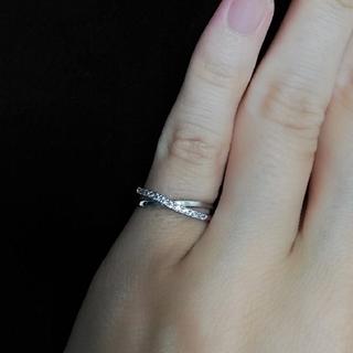 ピンキーリング 4号 キュービックジルコニア シルバーカラー(リング(指輪))