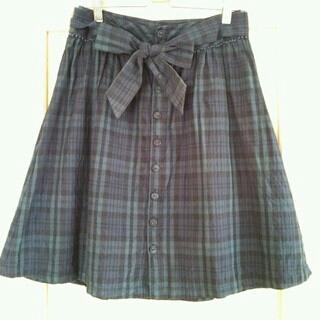 プーラフリーム(pour la frime)のリボンベルト付スカート(ひざ丈スカート)