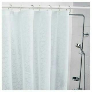 イケア(IKEA)のIKEAシャワーカーテン, ホワイト180x200cm(カーテン)