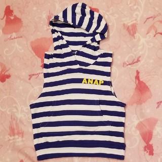 アナップキッズ(ANAP Kids)のANAP 110 フード付きタンクトップ アナップ 男女兼用(Tシャツ/カットソー)