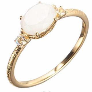 アガット(agete)のagete アガット ホワイトラブラドライト リング(リング(指輪))