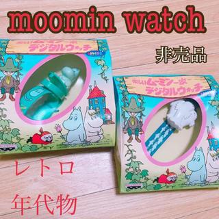 バンプレスト(BANPRESTO)のレア 年代物 ムーミンデジタルウォッチ 腕時計(キャラクターグッズ)