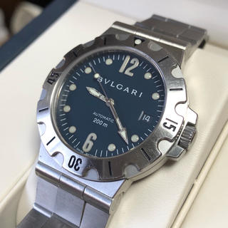 ブルガリ(BVLGARI)のブルガリ ディアゴノ スクーバ SD38S 自動巻 自動巻き メンズ 時計(腕時計(アナログ))