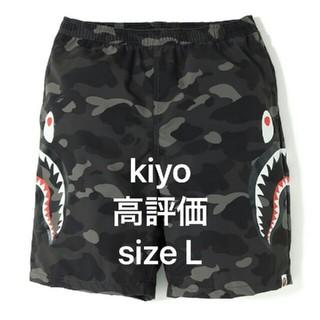 アベイシングエイプ(A BATHING APE)の送料込みsizeL abathingape shark Beach pants(ショートパンツ)