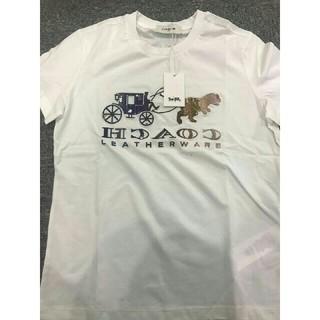 コーチ(COACH)の刺繍 COACH 夏コーデ 新製品 男女兼用 TEE (M) 美品(Tシャツ/カットソー(半袖/袖なし))