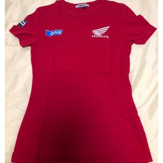 ガス(GAS)の美品 ガスジーンズ Tシャツ 赤 GAS ホンダ コラボ ダブルネーム(Tシャツ(半袖/袖なし))