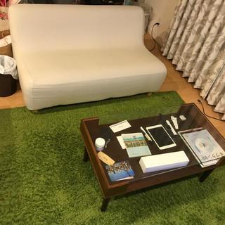 ムジルシリョウヒン(MUJI (無印良品))のソファ&ローテーブル&ラグ 三点セット(ソファセット)
