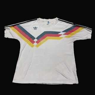 アディダス(adidas)の古着 90s 80s adidas ドイツ代表 ユニフォーム ストリート(Tシャツ/カットソー(半袖/袖なし))