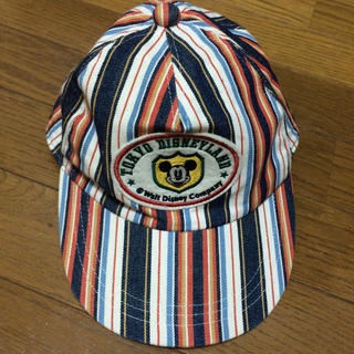 ビームス(BEAMS)のビンテージ ミッキー ストライプキャップ 80s USA beamsboy(キャップ)