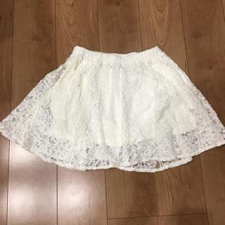 レピピアルマリオ(repipi armario)のレピピ 白レーススカート ☆再値下げ (ミニスカート)