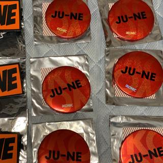 iKON - iKON JU-NE ジュネ 缶バッジ ラバーバッジ 缶バッチ ラバーバッチ