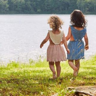 キャラメルベビー&チャイルド(Caramel baby&child )の2回着用 misha&puff 春夏物 ワンピース 3-4y(ワンピース)