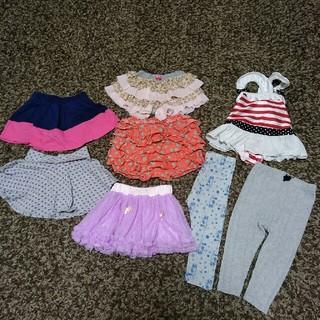 プティマイン(petit main)の女の子 まとめ売り 80-90 スカート ショートパンツ レギンス ボトムス (スカート)