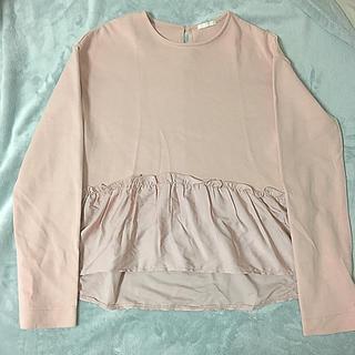 ジーユー(GU)のフリルTシャツ(Tシャツ(長袖/七分))