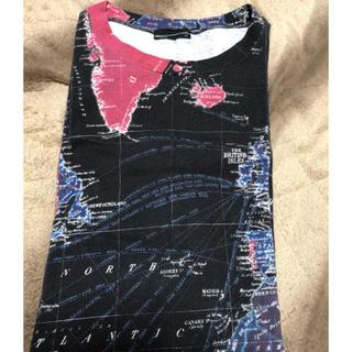 ラッドミュージシャン(LAD MUSICIAN)の週末限定価格 着用二回 ラッドミュージシャン 地球儀Tシャツ 42(Tシャツ/カットソー(半袖/袖なし))