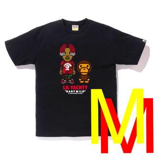 アベイシングエイプ(A BATHING APE)のTシャツ bape ペイプ a bathing ape lil yatchy 黒(Tシャツ/カットソー(半袖/袖なし))