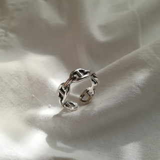silver 925 chain ring 2 *