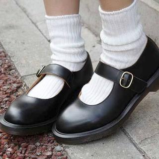 ドクターマーチン(Dr.Martens)のDr.Martens INDICA UK5 黒 メリージェーン(ローファー/革靴)
