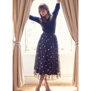 デビュードフィオレ(Debut de Fiore)のカタログ掲載♡エンブロイダリー チュールスカート(ロングスカート)