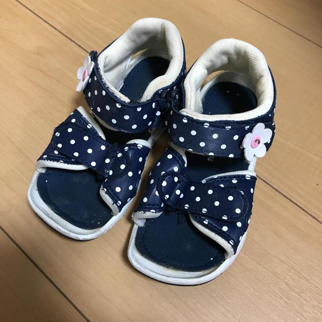 mikihouse(ミキハウス)のミキハウスサンダル15cm  キッズ/ベビー/マタニティのキッズ靴/シューズ (15cm~)(サンダル)の商品写真