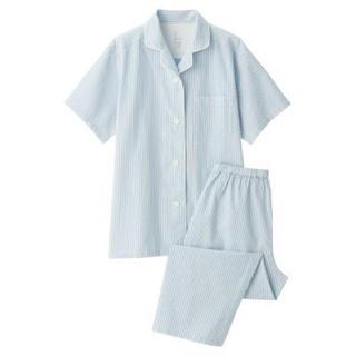 ムジルシリョウヒン(MUJI (無印良品))の新品   無印良品  脇に縫い目のない サッカー織り半袖パジャマ  (パジャマ)