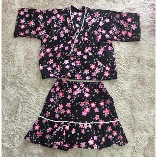 ニシマツヤ(西松屋)の女の子 甚平 130㎝(甚平/浴衣)