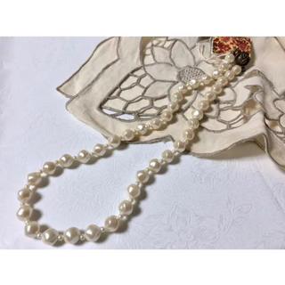 H.P.FRANCE - vintage accessory パール アンティークネックレス バラモチーフ