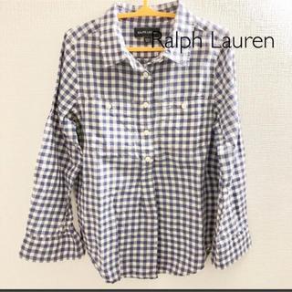 ラルフローレン(Ralph Lauren)の【ラルフローレン 】キッズ  プルオーバーチェックシャツ(ブラウス)