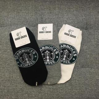 スターバックスコーヒー(Starbucks Coffee)の【新品未使用】スターバックス靴下☆レディース3足組セット(ソックス)