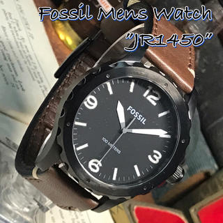 フォッシル(FOSSIL)のFossile フォッシル メンズ腕時計 JR1450 純正本革ベルト ブラック(腕時計(アナログ))