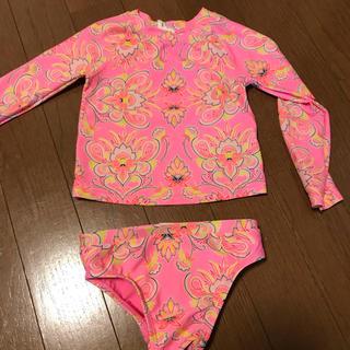 ベビーギャップ(babyGAP)の【GAP】ピンク ラッシュガード セパレート水着 80cm(水着)
