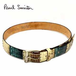 ポールスミス(Paul Smith)のPaul Smith ポールスミス クロコダイル レザー ベルト イタリア製(ベルト)
