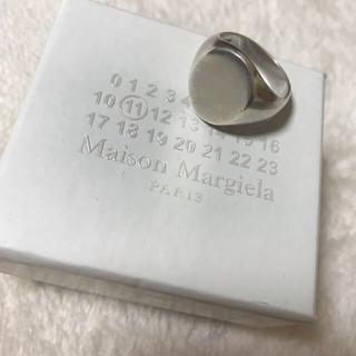 【新品】 マルジェラ シルバー シグネット リング Sサイズ