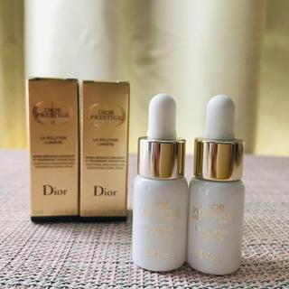 ディオール(Dior)の【新品】プレステージ ホワイト ルミエール ソリューション 15,000円相当(美容液)