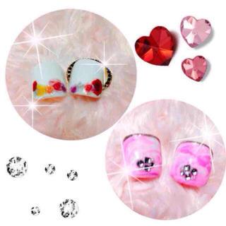 白 × リゾフラ風 ピンクマーブル