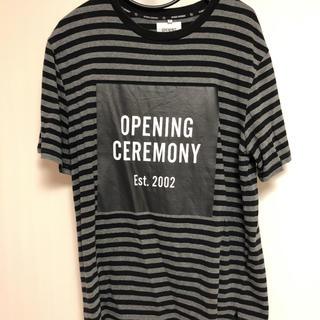 オープニングセレモニー(OPENING CEREMONY)のオープニングセレモニー ボーダーTシャツ(Tシャツ/カットソー(半袖/袖なし))