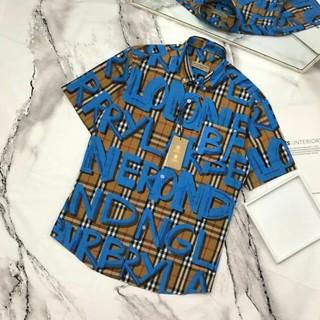 BURBERRY - Burberry 高品質 メンズシャツ 夏服 カジュアル