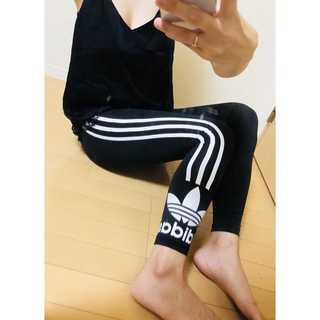 アディダス(adidas)のadidas originals スキニー ラインレギンス レギンス S ロゴ(レギンス/スパッツ)