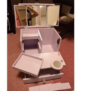 フランフラン(Francfranc)のコンパクト ドレッサー 鏡つき コスメ テーブル台 コスメ収納 パステル パ(その他)